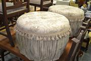 Sale 7981A - Lot 1057 - Pair of Upholstered Ottomans with Tassel Fringe
