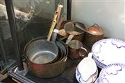 Sale 8276 - Lot 87 - Graduated Copper Saucepans