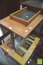 Sale 8338 - Lot 1456 - Small G Plan Table And In Tray