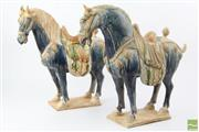 Sale 8529 - Lot 133 - Pair of Tang Style Horses