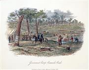 Sale 8573 - Lot 2092 - Samuel Thomas Gill (1818 - 1880) - Government Camp, Creswicks Creek 16.5 x 21cm (mount size: 31.5 x 35cm)