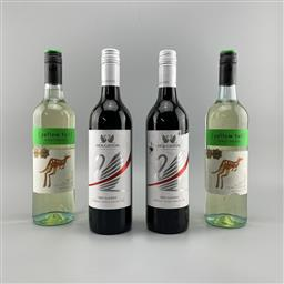 Sale 9187W - Lot 59 - 4x Wines - Houghtin Red Classic & Yellow Tail Pinot Grigio