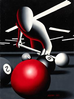 Sale 9214 - Lot 581 - MARK KOSTABI (1960 - ) Gene Pool, 1997 acrylic on canvas 61 x 45.5 cm (frame: 61 x 49 x 5 cm) signed and dated lower right, signed, ...