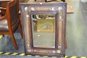 Sale 7981A - Lot 1033 - Bevelled Edge Mirror in Floral Painted Frame