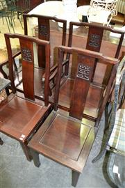 Sale 8115 - Lot 1179 - Set Of Four Oriental Dining Chairs incl. Of Two Carvers