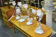 Sale 8165 - Lot 1090 - Set of 4 Tulip Shade Table Lamps