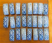 Sale 8259A - Lot 76 - A Selection of Various Chinese Blue and White Napkin rings, decorated with floral sprays