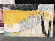 Sale 8789 - Lot 2089 - Gloria Budgeon - Untitled, mixed media on canvas laid on board, size: 61 x 92cm, signed lower right