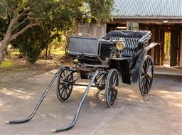 Sale 9191W - Lot 402 - An Antique 19 Th Century Coach with an American coach label to the rear. In excellent condition, electrified lamps  and a foot opera...
