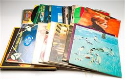 Sale 9253 - Lot 37 - A box of various LP records including David Bowie