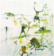 Sale 8350E - Lot 49 - John Olsen (1928 - ) - Frog Pond 85 x 83cm