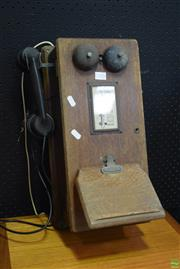 Sale 8550 - Lot 1025 - Vintage Wall Mount Telephone
