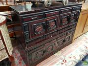 Sale 8580 - Lot 1069 - Chinese Pair of Low Form Cabinets (86.5 x 106 x 36.5cm)
