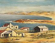 Sale 8678 - Lot 2025 - Artist Unknown (C20th) - Coastal Village 39 x 48.5cm
