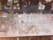 Sale 8659 - Lot 2479 - Large Collection of Crystalware incl Decanter & Perfume Bottle