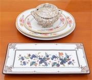 Sale 8891H - Lot 76 - A small quantity of platters and a tureen, the largest platter 41cm