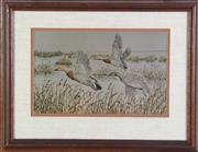Sale 8948 - Lot 91 - Call of Autumn Etching By Al Dornisch With 24k Gold Inlay (44cm x 34cm)