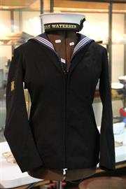 Sale 8346 - Lot 209 - Royal Australian Combat Systems Operator Winter Uniform (top Half Only) With a HMAS Waterhen Hat
