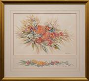 Sale 8659 - Lot 2160 - Gloria Muddle (2 Works) - Native Wildflowers in Spring 36 x 58cm