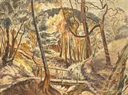Sale 8711 - Lot 2049 - Jean Isherwood (1911 - 2006) - Forest Landscape 38 x 50cm