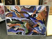 Sale 9045 - Lot 2061 - Rebecca Pierce Abstract mixed media on canvas 79 x 105cm -