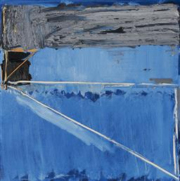 Sale 9125 - Lot 516 - John Firth-Smith (1943 - ) Blue Senary No. 3, 1979 oil on linen 60 x 60 cm (frame: 63 x 63 x 3 cm) signed, titled, numbered and date...
