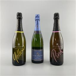 Sale 9187W - Lot 61 - 6x Sparkling Wines - Francois Brut (1), Yellow (4) Pink (1)