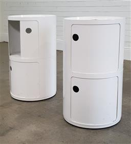 Sale 9210 - Lot 1071A - Pair of Kartel style cylindrical sidetables (h746 x d42cm)