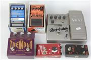 Sale 8422 - Lot 1 - Akai Shred-O-Matic Effects Pedal with 5 Others incl Dunlop Tremolo