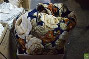 Sale 8529 - Lot 142 - Queen Size Quilted Vintage Bedspread With Floral Motif