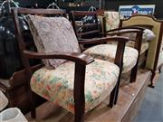 Sale 8724 - Lot 1097 - Pair of Art Deco Chairs and Another