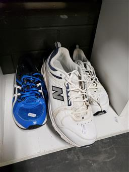Sale 9101 - Lot 2312 - 2 Pairs of Shoes Asics Gel-Contend 3 (Size Euro 46.5) & New Balance 856 (Size Euro 46.5)