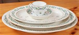 Sale 9120H - Lot 398 - A group of early ceramics including a set of three graduating platters, largest Width 40cm
