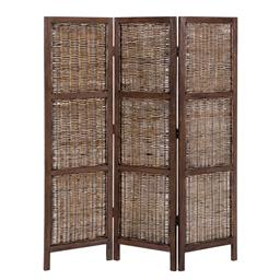 Sale 9140F - Lot 105 - Bifold Screen featuring fruitwood frame and rattan in honey brown. Dimensions: W150 x D3 x H170 cm