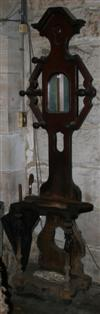Sale 7670A - Lot 294 - Hallstand with central arched mirror and hexagonal peg configuration