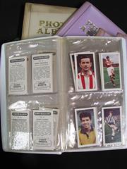Sale 8125 - Lot 62 - English Football Cards - 6 albums incl set of Footballers (Cadet Sweets), Well Known Footballers (Sinclair), & Famous Footballers (S...