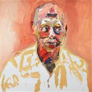 Sale 8161A - Lot 81 - Ben Quilty (1973 -) - Commodore John Oddie, after Afghanistan 90 x 90cm (116 x 116cm)