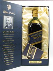 Sale 8225 - Lot 1741 - 1x Johnnie Walker Blue Label Rare Blended Scotch Whisky - 1000ml in box