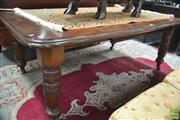 Sale 8291 - Lot 1090 - Late Victorian Walnut Extension Dining Table, with single leaf & turned reeded legs (Winder in Office)