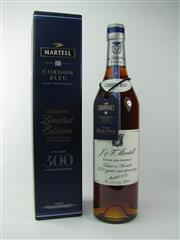 Sale 8329 - Lot 506 - 1x Martell Cordon Bleu - 300 1715-2015 300 Year Anniversary Extra Old Cognac - 40% ABV, 700ml in box