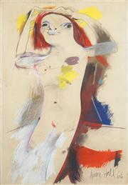 Sale 8466A - Lot 5068 - Anne Hall (1946 - ) (2 works) - Nude Studies, 1966 101 x 70.5cm, each (sheet size)