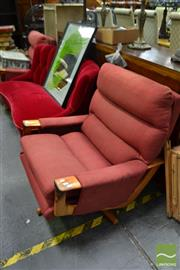 Sale 8489 - Lot 1073 - Pair of Upholstered Swivel Armchairs