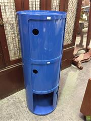 Sale 8643 - Lot 1185 - A Componibili Style Three Module Cabinet in Blue, height 112cm - as new