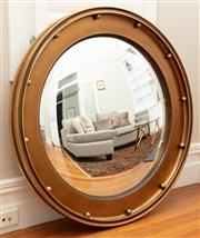 Sale 8863H - Lot 9 - A Regency style gilt framed convex mirror, Diameter 101cm