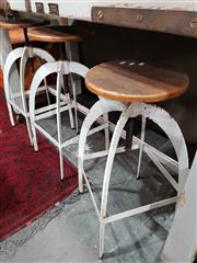 Sale 8912 - Lot 1021 - Set of 3 Industrial Stools