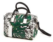 Sale 9071F - Lot 49 - A REBEKAH MINKOFF SPEEDY BAG; printed with green, white and black monsteria print, New with tags & dust bag