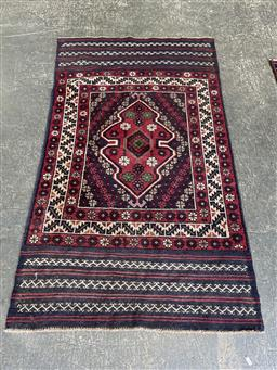 Sale 9129 - Lot 1027 - Hand knotted pure wool Persian balouchi ( 160 x 93cm)
