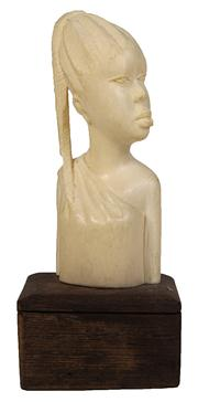 Sale 7978 - Lot 74 - Ivory Carved Bust of an African Girl
