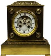 Sale 8065 - Lot 42 - French Brass Clock