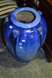 Sale 8093 - Lot 1537 - Blue Glazed Planter